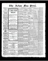 Acton Free Press (Acton, ON), August 30, 1923