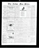 Acton Free Press (Acton, ON), November 3, 1927