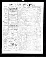 Acton Free Press (Acton, ON), November 10, 1927