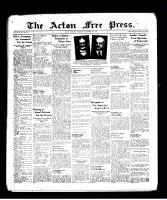 Acton Free Press (Acton, ON), December 8, 1938