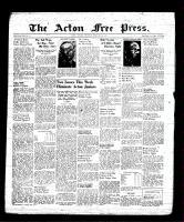 Acton Free Press (Acton, ON), February 2, 1939
