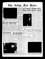 Acton Free Press (Acton, ON), September 29, 1960