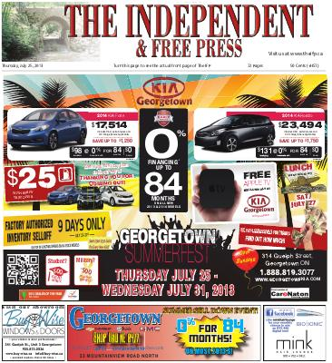 Independent & Free Press (Georgetown, ON), 25 Jul 2013