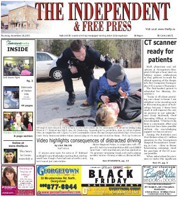 Independent & Free Press (Georgetown, ON), 28 Nov 2013