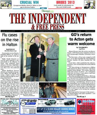 Independent & Free Press (Georgetown, ON), 8 Jan 2013