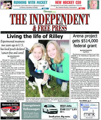 Independent & Free Press (Georgetown, ON), 10 Jan 2013