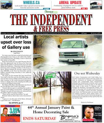 Independent & Free Press (Georgetown, ON), 31 Jan 2013