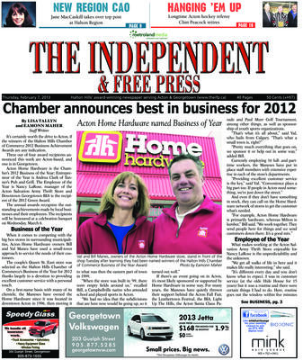 Independent & Free Press (Georgetown, ON), 7 Feb 2013