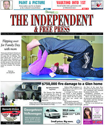 Independent & Free Press (Georgetown, ON), 21 Feb 2013