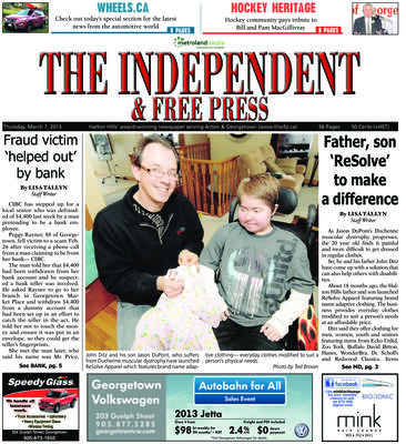 Independent & Free Press (Georgetown, ON), 7 Mar 2013