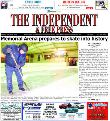 Independent & Free Press (Georgetown, ON), 19 Mar 2013