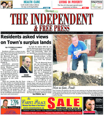 Independent & Free Press (Georgetown, ON), 11 Apr 2013