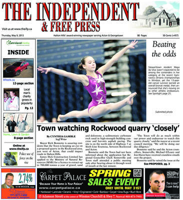Independent & Free Press (Georgetown, ON), 9 May 2013