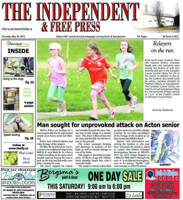 Independent & Free Press (Georgetown, ON), 30 May 2013