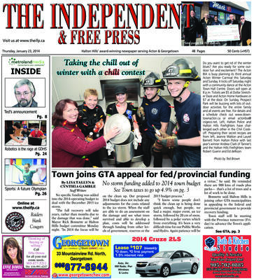 Independent & Free Press (Georgetown, ON), 23 Jan 2014