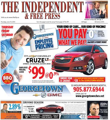 Independent & Free Press (Georgetown, ON), 19 Jun 2014