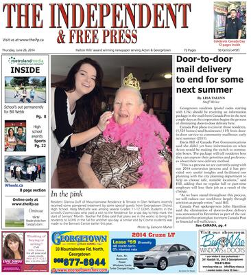 Independent & Free Press (Georgetown, ON), 26 Jun 2014