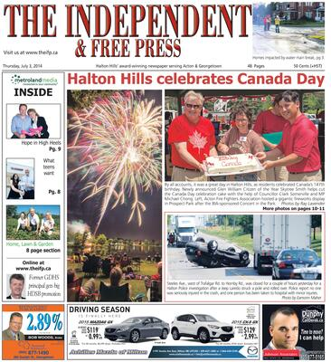 Independent & Free Press (Georgetown, ON), 3 Jul 2014