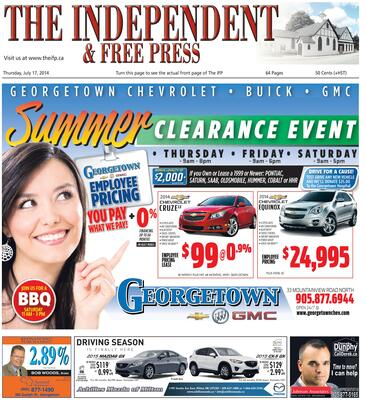 Independent & Free Press (Georgetown, ON), 17 Jul 2014