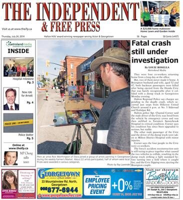 Independent & Free Press (Georgetown, ON), 24 Jul 2014