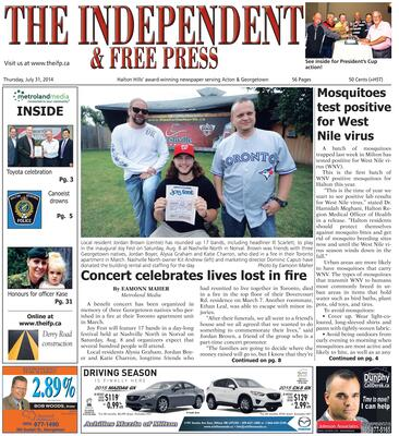 Independent & Free Press (Georgetown, ON), 31 Jul 2014