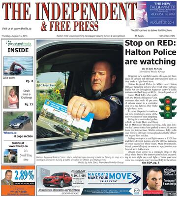 Independent & Free Press (Georgetown, ON), 14 Aug 2014