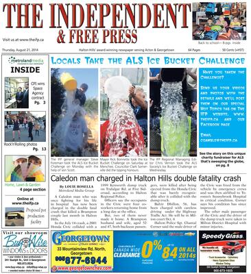 Independent & Free Press (Georgetown, ON), 21 Aug 2014
