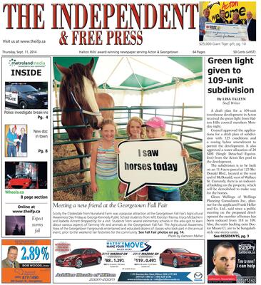 Independent & Free Press (Georgetown, ON), 11 Sep 2014