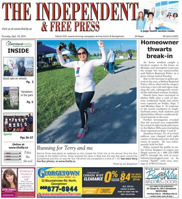 Independent & Free Press (Georgetown, ON), 18 Sep 2014