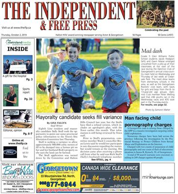Independent & Free Press (Georgetown, ON), 2 Oct 2014