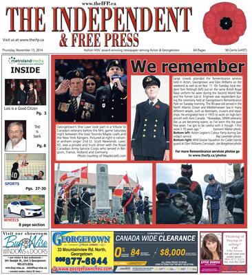 Independent & Free Press (Georgetown, ON), 13 Nov 2014