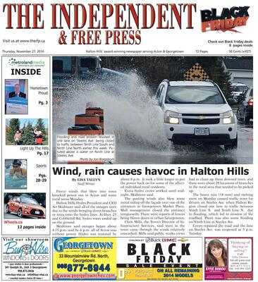Independent & Free Press (Georgetown, ON), 27 Nov 2014