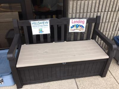 Hillsview Active Living Centre Lending Library Bench