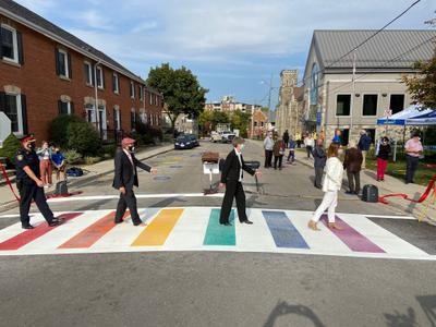 Rainbow Crosswalk Unveiling