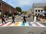 Rainbow Crosswalk Unveiling
