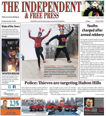 Independent & Free Press (Georgetown, ON), 18 Dec 2014
