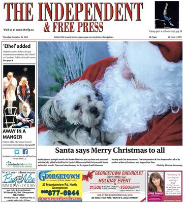 Independent & Free Press (Georgetown, ON), 25 Dec 2014