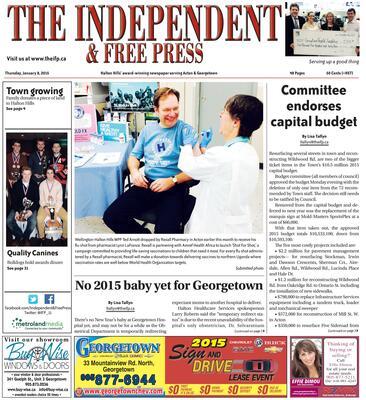 Independent & Free Press (Georgetown, ON), 8 Jan 2015