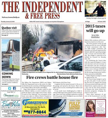Independent & Free Press (Georgetown, ON), 22 Jan 2015