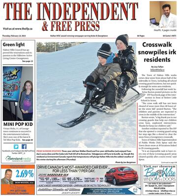 Independent & Free Press (Georgetown, ON), 12 Feb 2015