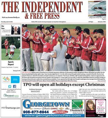 Independent & Free Press (Georgetown, ON), 23 Jul 2015