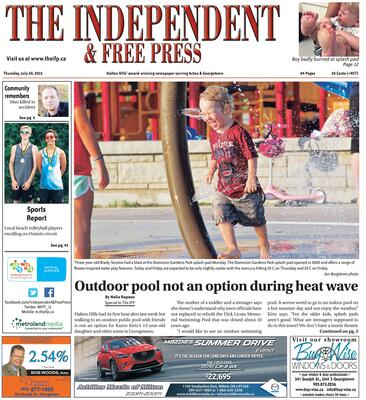 Independent & Free Press (Georgetown, ON), 30 Jul 2015
