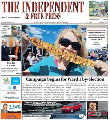 Independent & Free Press (Georgetown, ON), 13 Aug 2015