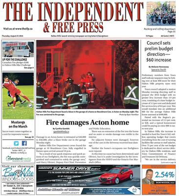 Independent & Free Press (Georgetown, ON), 27 Aug 2015