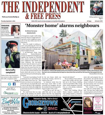 Independent & Free Press (Georgetown, ON), 3 Sep 2015