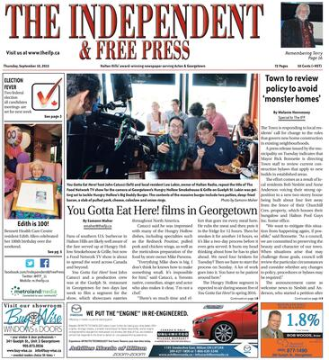 Independent & Free Press (Georgetown, ON), 10 Sep 2015