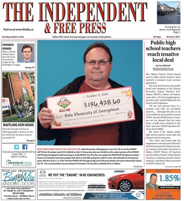 Independent & Free Press (Georgetown, ON), 8 Oct 2015