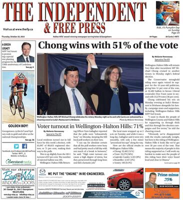 Independent & Free Press (Georgetown, ON), 22 Oct 2015