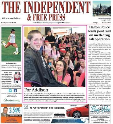 Independent & Free Press (Georgetown, ON), 5 Nov 2015
