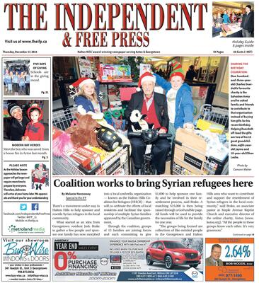 Independent & Free Press (Georgetown, ON), 17 Dec 2015
